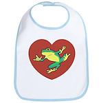 ASL Frog in Heart Bib