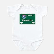 Charlotte, NC Highway Sign Infant Bodysuit