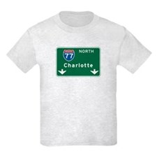 Charlotte, NC Highway Sign T-Shirt