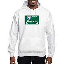 Charlotte, NC Highway Sign Hoodie