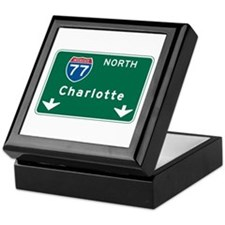 Charlotte, NC Highway Sign Keepsake Box