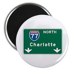 "Charlotte, NC Highway Sign 2.25"" Magnet (100 pack)"