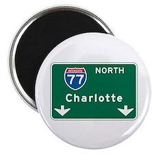 "Charlotte, NC Highway Sign 2.25"" Magnet (10 pack)"