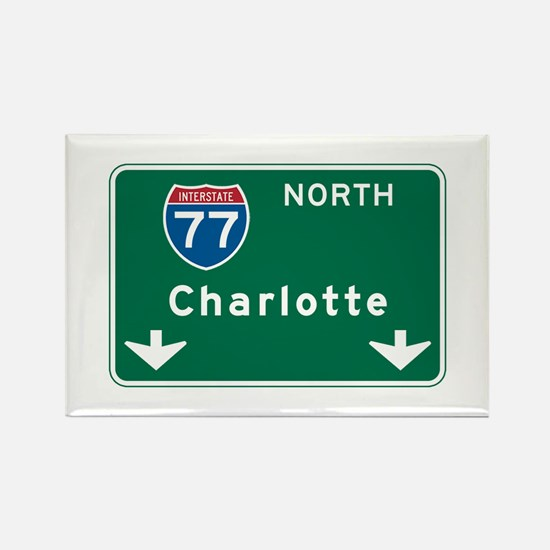 Charlotte gifts merchandise charlotte gift ideas apparel charlotte nc highway sign rectangle magnet negle Gallery
