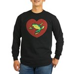 ASL Frog in Heart Long Sleeve Dark T-Shirt