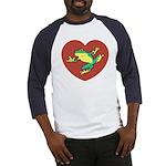 ASL Frog in Heart Baseball Jersey