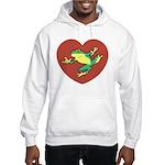 ASL Frog in Heart Hooded Sweatshirt