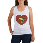 ASL Frog in Heart Women's Tank Top