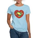 ASL Frog in Heart Women's Light T-Shirt
