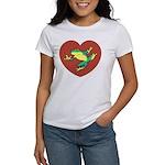 ASL Frog in Heart Women's T-Shirt