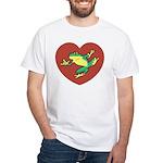 ASL Frog in Heart White T-Shirt