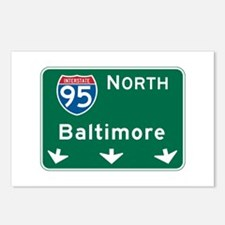Baltimore, MD Highway Sign Postcards (Package of 8