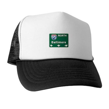 Baltimore, MD Highway Sign Trucker Hat