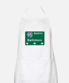Baltimore, MD Highway Sign BBQ Apron
