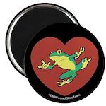 ASL Frog in Heart Black Magnet