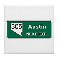 Austin, TX Highway Sign Tile Coaster