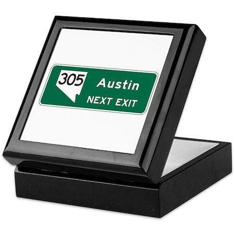 Austin, TX Highway Sign Keepsake Box