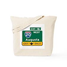 Augusta, GA Highway Sign Tote Bag