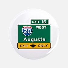 """Augusta, GA Highway Sign 3.5"""" Button"""