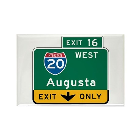 Augusta, GA Highway Sign Rectangle Magnet (10 pack