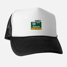 Augusta, GA Highway Sign Trucker Hat