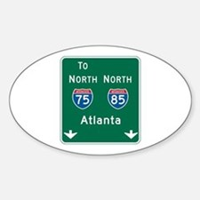 Atlanta, GA Highway Sign Oval Decal