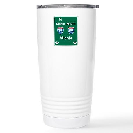 Atlanta, GA Highway Sign Stainless Steel Travel Mu