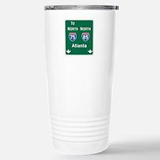 Atlanta, GA Highway Sign Travel Mug