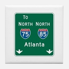 Atlanta, GA Highway Sign Tile Coaster