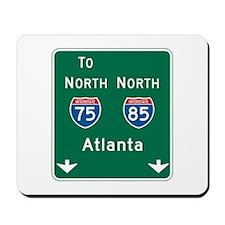 Atlanta, GA Highway Sign Mousepad