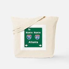 Atlanta, GA Highway Sign Tote Bag