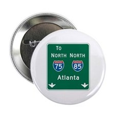 "Atlanta, GA Highway Sign 2.25"" Button"