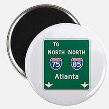 "Atlanta, GA Highway Sign 2.25"" Magnet (100 pack)"