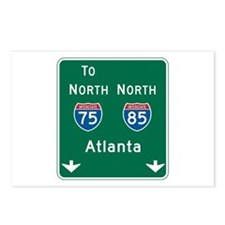 Atlanta, GA Highway Sign Postcards (Package of 8)