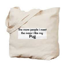I like my Pug Tote Bag