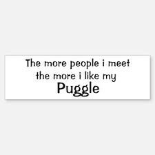 I like my Puggle Bumper Bumper Bumper Sticker