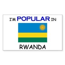 I'm Popular In RWANDA Rectangle Decal