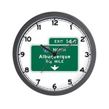 Albuquerque, NM Highway Sign Wall Clock