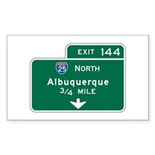 Albuquerque, NM Highway Sign Rectangle Bumper Stickers