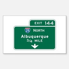Albuquerque, NM Highway Sign Rectangle Decal