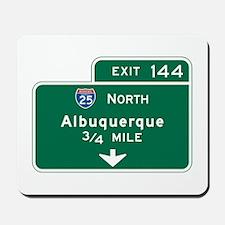 Albuquerque, NM Highway Sign Mousepad