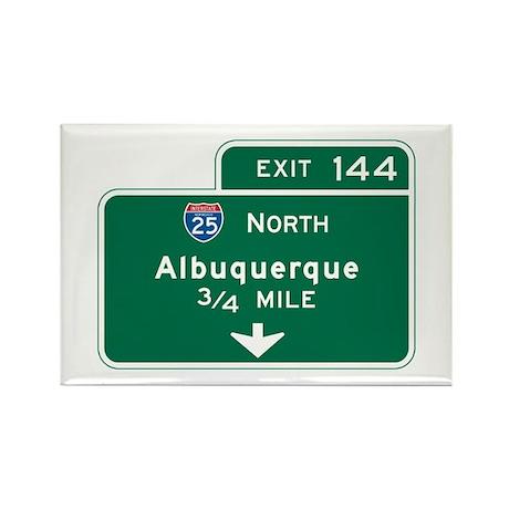 Albuquerque, NM Highway Sign Rectangle Magnet (100