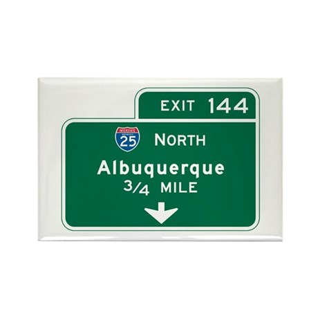 Albuquerque, NM Highway Sign Rectangle Magnet (10