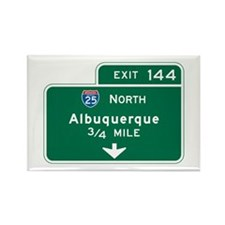 Albuquerque, NM Highway Sign Rectangle Magnet