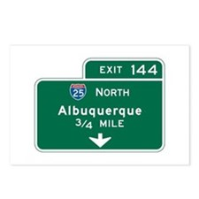 Albuquerque, NM Highway Sign Postcards (Package of