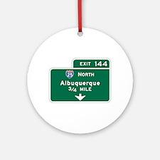Albuquerque, NM Highway Sign Ornament (Round)