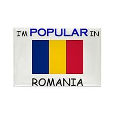 I'm Popular In ROMANIA Rectangle Magnet