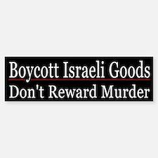 Boycott Israeli Goods - Bumper Bumper Sticker