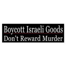Boycott Israeli Goods - Bumper Sticker