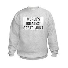 Worlds Greatest Great Aunt Sweatshirt